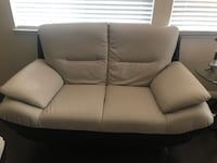 Gray and black leather loveseat  San Jose, 95136