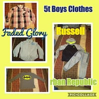 boy's assorted clothes collage