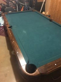 brown and green pool table Martinsburg, 25404