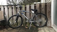 blue and white Trek hardtail mountain bike Indianapolis, 46205