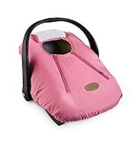 pink and black babys warm carseat cover