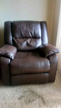 brown leather recliner sofa chair Parker, 80134