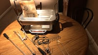 Farberware vintage open hearth broiler/ rotisserie . Electric heating element and electric rotisserie