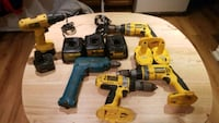 Drills, batteries, chargers 9, 14, 18volts Toronto, M6E 1W8