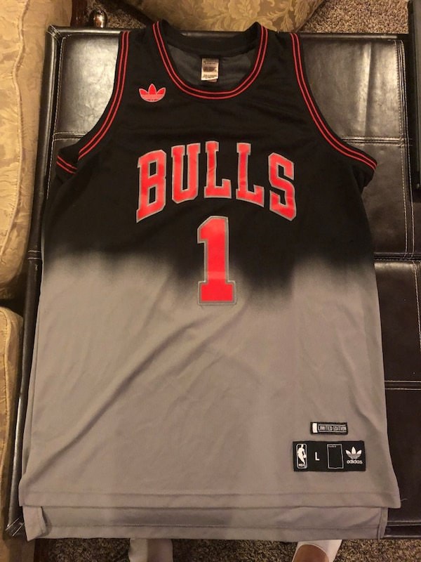 outlet store a9a9c 722da Adidas NBA CHICAGO BULLS DERRICK ROSE Fadeaway Limited Edition Swingman  Jersey