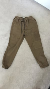 Womens Zara basic denim army brown baggy pants Mississauga, L5V