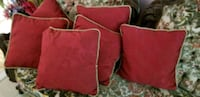 red and black fabric sofa chair Mississauga, L5B 2S7
