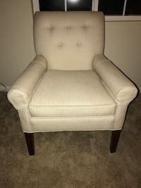 White and Beige Matching Chair Set