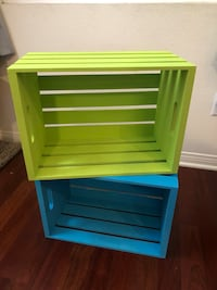 Green and teal crates  Orange, 92865