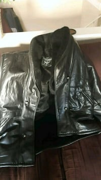 black leather zip-up jacket Calgary, T2T 1H6