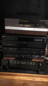 black Sony stereo stack system Falls Church, 22043