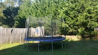 blue and black trampoline with enclosure Bowie, 20721