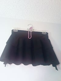 Size small 3-tiered black skirt Federal Way, 98003