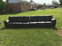 Leather couches Clinton
