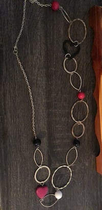 silver-colored necklace with red gemstone pendant Colorado Springs, 80906