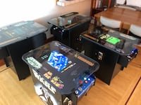 8 Arcade cocktail cabinets