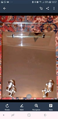 Toilet Mirror with two lamps with stand La Capellania, 29630