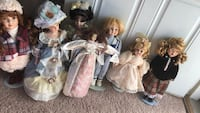 Seven incredibly beautiful Porcelain Dolls Price ranges from a dollar to five dollars or you can have all 7 for $10 Norfolk, 23523