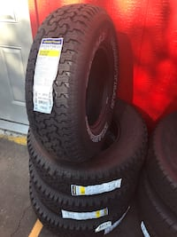 Set 235/75/15 GOODYEAR WRANGLER Radial brand new $440 including installation and balance  Whittier, 90605