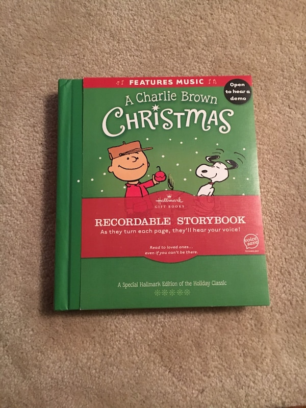 Recordable Christmas Books.A Charlie Brown Christmas Recordable Story Book