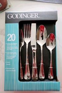 Five piece flatware setting for 8 people