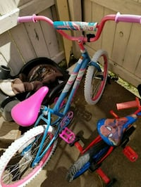 toddler's blue and pink bicycle
