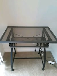 rectangular glass-top desk with black steel frame Fairfax, 22030