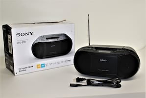 Sony Stereo CD/Cassette Boombox - CFDS70