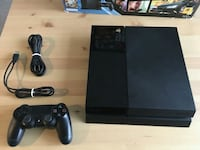 Jet black PS4 game console dualshock 4 and cable Marietta, 30060
