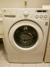 white LG front-load clothes washer Richmond Hill, L4B 3H9