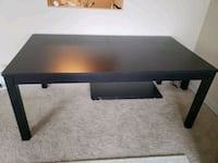 rectangular black wooden coffee table Chicago, 60656