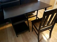 wood desk with chair  Toronto, M6S 3X5