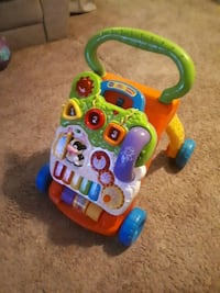 orange and green Vtech sit to stand learning walker Toronto, M1B