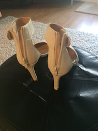 WHITE SANDALS,SIZE(6)GOOD CONDITION ,SMOKE FREE HOME Kitchener