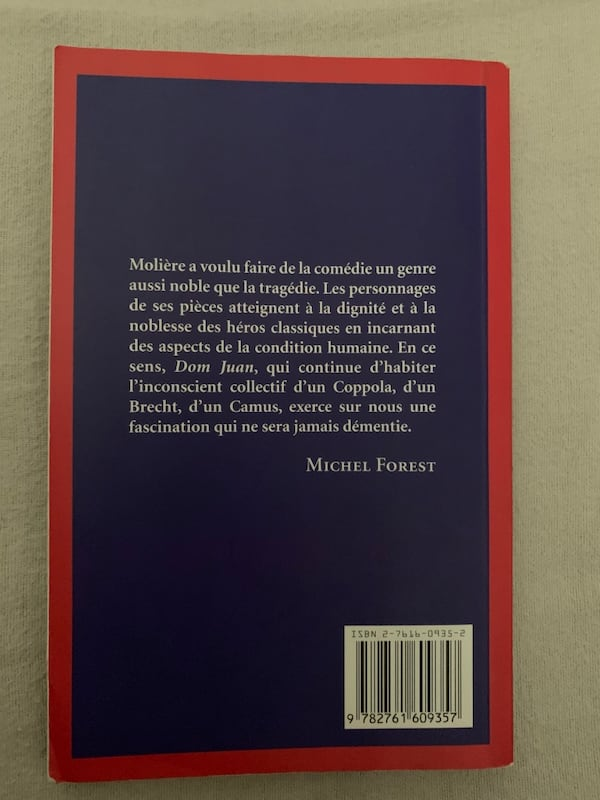 Dom Juan de Molière (French book) 1
