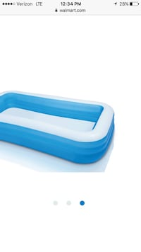Inflatable multi colored pool