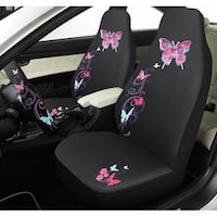 Pink Butterfly car seat Cover