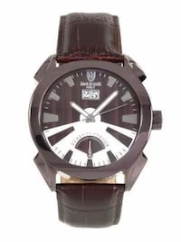 Lancaster Italy  MRSP :$485 Material: Stainless Steel, Brown Leather New York, 11214