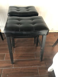 black leather padded bar seat 2218 mi