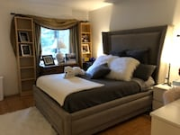 Ashley Furniture Queen size bed, base, headboard, foam mattress. Smoke and pet free house. Like new! Manassas