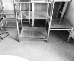 Chrome frame glass top side tables
