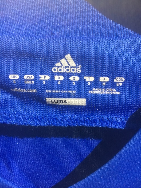 Greek national team Home  jersey by Adidas size small ad6a1363-b026-445a-a992-9a707b2b87e8