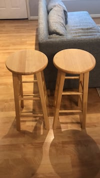 two brown wooden bar stools Alexandria, 22312