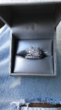 4ct white gold diamond ring set Dallas
