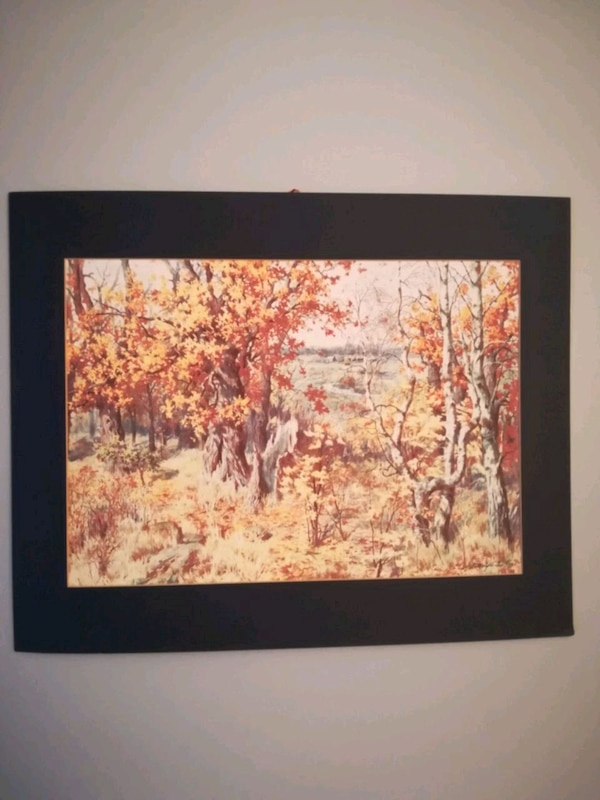 "Painting ""Fall"" with artist signature 03c1a8ab-6b7a-4e3a-8e72-702c5fa7d593"