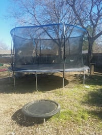 black and gray trampoline with enclosure Grand Prairie, 75052