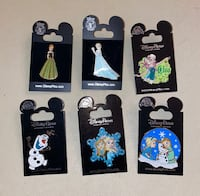 A lot of 6 Disney Trading pins from the movie, Frozen Rocky Hill, 06067