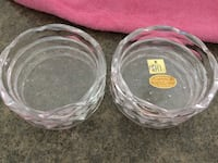 Birks set of 6 crystal coasters GUELPH