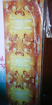 brown and white floral print window curtain Moradabad, 244001