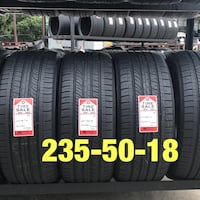 4 used tires 235/50/18 Firestone GT